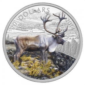2014 Canada Fine Silver $20 Coin - The Caribou