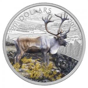 2014 Canada Fine Silver $20 Coin - The Caribou
