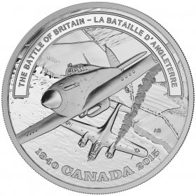 2015 Canadian $20 Second World War Battlefront Series: The Battle of Britain - 1 oz Fine Silver Coin