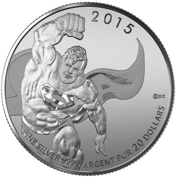 2015 Canada Fine Silver 20 Dollar Coin - $20 for $20: Superman™