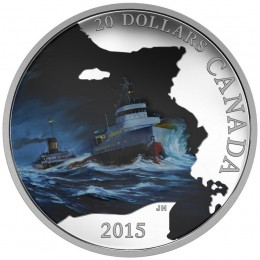 2015 Canada Fine Silver $20 Coin - Lost Ships in Canadian Waters: S.S. Edmund Fitzgerald
