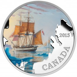 2015 Canadian $20 Lost Ships in Canadian Waters: Franklin's Lost Expedition - 1 oz Fine Silver Coin
