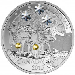 2015 Canada Fine Silver $20 Coin - Holiday Reindeer