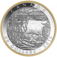 2015 Fine Silver 20 Dollar Coin - Tom Thomson: Spring Ice