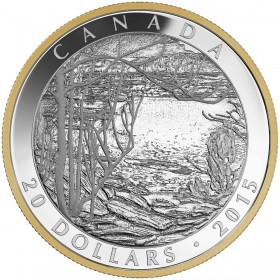 2015 Canada Fine Silver 20 Dollar Coin - Tom Thomson: Spring Ice
