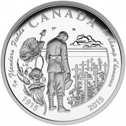 2015 Canada Fine Silver $20 Coin - 100th Anniversary of In Flanders Fields