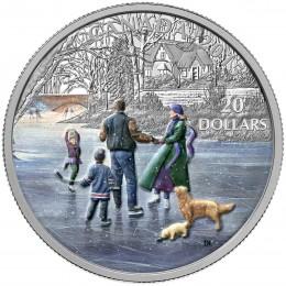 2015 Canadian $20 Winter Scene: Ice Dancer - 1 oz Fine Silver Coloured Coin