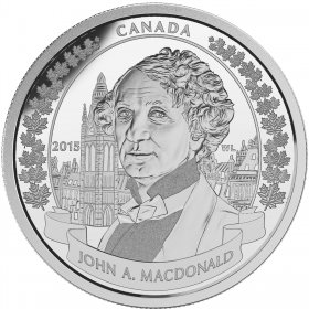2015 Canadian $20 200th Anniversary of the Birth of Sir John A. Macdonald - 1 oz Fine Silver Coin
