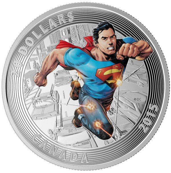 2015 Fine Silver 20 Dollar Coin - Iconic Superman Comic Book Covers: Action Comics #1 (2011)