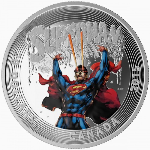 2015 Canada Fine Silver 20 Dollar Coin - Iconic Superman Comic Book Covers: Superman #28 (2014)