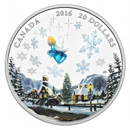 2016 Canadian $20 Venetian Glass Angel - 1 oz Fine Silver Coin