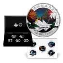 2016 Canadian $20 Geometry in Art 5-Coin 1 oz Fine Silver Coloured Deluxe Subscription Set
