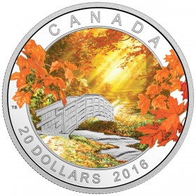 2016 Canada Fine Silver $20 Coin - Autumn Tranquility
