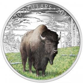 2016 Canada Fine Silver 20 Dollar Coin - Majestic Animals: The Benevolent Bison