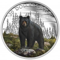 2017 Fine Silver 20 Dollar Coin - Majestic Animals: The Bold Black Bear