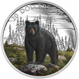 2017 Canada Fine Silver 20 Dollar Coin - Majestic Animals: The Bold Black Bear