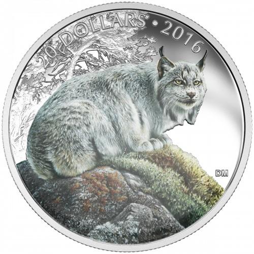 2016 Canada Fine Silver 20 Dollar Coin - Majestic Animals: The Canadian Lynx