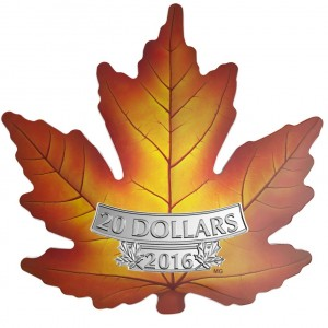 2016 Canada Fine Silver $20 Coin - Canada's Colourful Maple Leaf