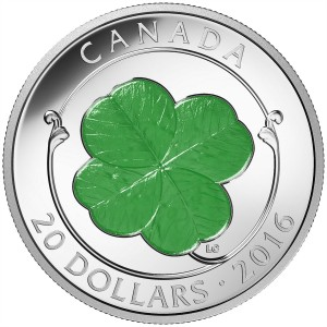 2016 Canada Fine Silver $20 Coin - Four-Leaf Clover