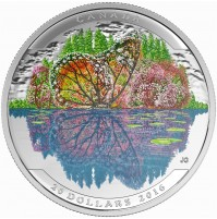 2016 Fine Silver 20 Dollar Coin - Landscape Illusion: Butterfly