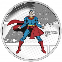 2016 Canadian $20 DC Comics™ Originals: SUPERMAN™ - 1 oz Fine Silver Coin