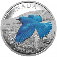 2016 Fine Silver 20 Dollar Coin - The Migratory Birds Convention: 100 Years of Protection - The Mountain Bluebird