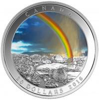 2016 Fine Silver 20 Dollar Coin - Weather Phenomenon: Radiant Rainbow