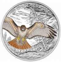 2016 Fine Silver 20 Dollar Coin - Majestic Animals: The Regal Red-Tailed Hawk