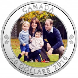 2016 Canadian $20 A Royal Tour - 1 oz Fine Silver Coin