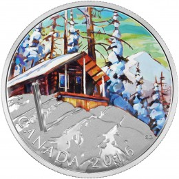 2016 Canadian $20 Canadian Landscape Series: Ski Chalet - 1 oz Fine Silver Coin