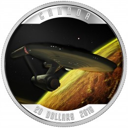 2016 Canadian $20 Coin - Star Trek™ USS Enterprise 1 oz Fine Silver Coin