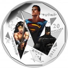 2016 Canadian $20 Batman v Superman: Dawn of Justice™, The Trinity - Fine Silver Coin