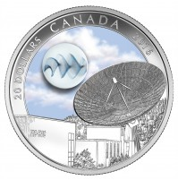 2016 Fine Silver 20 Dollar Coin - The Universe: Glow-in-the-Dark Glass with Silver Fume