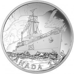 2016 Canadian $20 Patrol Against U-Boats - 1 oz Fine Silver Coin