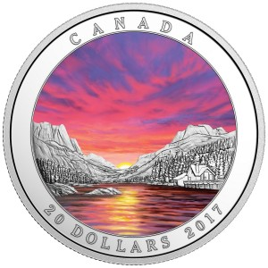 2017 Canada Fine Silver $20 Coin - Weather Phenomenon: Fiery Sky