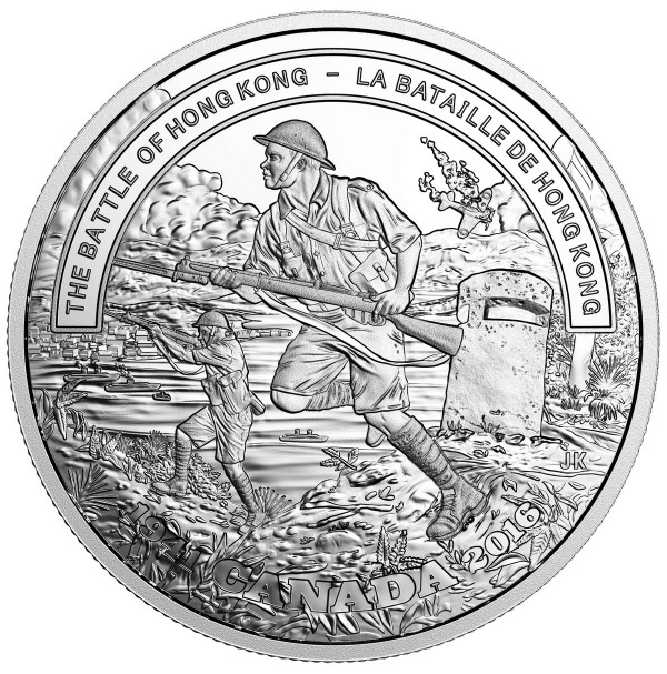 2016 Fine Silver 20 Dollar Coin - First World War Battlefront Series: The Battle of Hong Kong