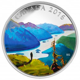 2016 Canada Fine Silver $20 Coin - Canadian Landscape Series: Reaching the Top