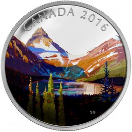 2016 Canada Fine Silver $20 Coin - Canadian Landscape Series: The Lake