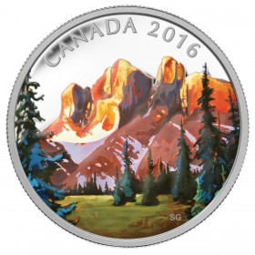 2016 Canada Fine Silver $20 Coin - Canadian Landscape Series: The Rockies