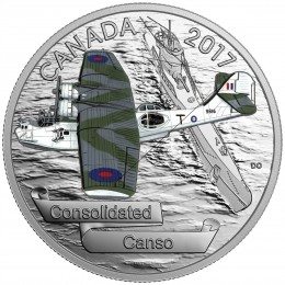2017 Canada Fine Silver $20 Coin - Aircraft of The Second World War: Consolidated Canso