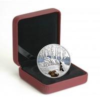 2017 Fine Silver 20 Dollar Coin - Glistening North: Arctic Wolf