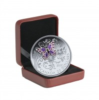2017 Fine Silver 20 Dollar Coin - Bejeweled Bugs: Butterfly