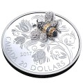 2017 Canada Fine Silver $20 Coin - Bejewelled Bugs: Bee