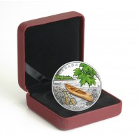2017 Fine Silver 20 Dollar Coin - Canoe to Tranquil Times