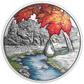 2017 Fine Silver 20 Dollar Coin - Jewel of the Rain: Sugar Maple Leaves