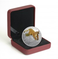2017 Fine Silver 20 Dollar Coin - Three-Dimensional Leaping Cougar
