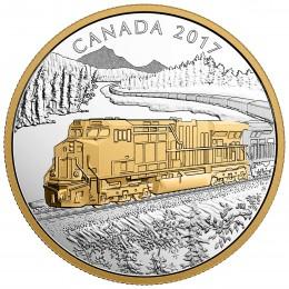 2017 Canada Fine Silver $20 Coin - Locomotives Across Canada: GE ES44AC