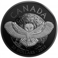 2017 Fine Silver 20 Dollar Coin - Nocturnal by Nature: The Barn Owl