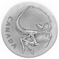 2017 Fine Silver 20 Dollar Coin - Ancient Canada: Ornithomimus