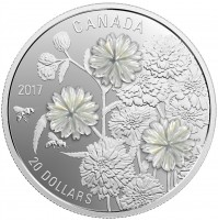 2017 Fine Silver 20 Dollar Coin - Pearl Flowers